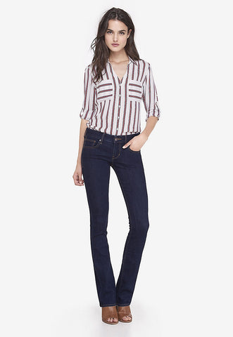 low rise stretch barely boot jeans