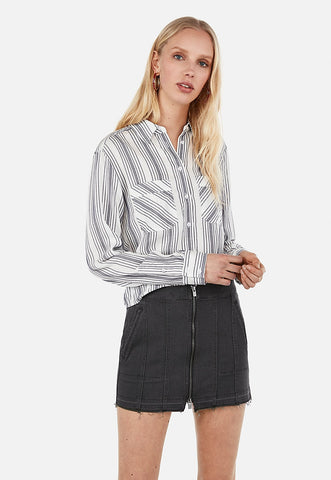 Striped Abbreviated Shirt