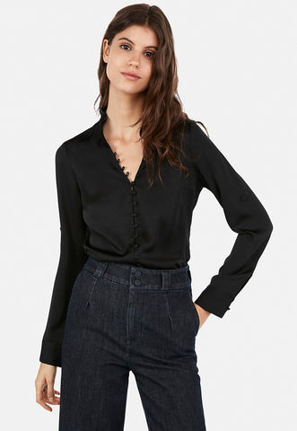 slim ruffle covered button portofino shirt