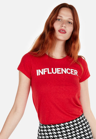 express one eleven influencer slim graphic tee