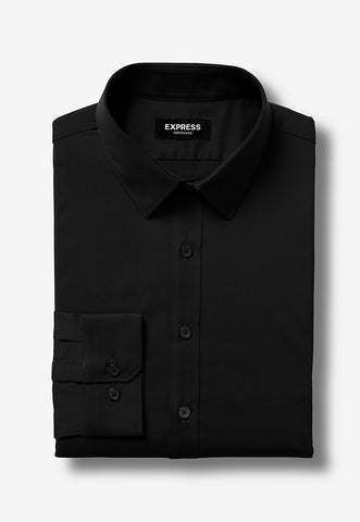 extra slim solid performance dress shirt