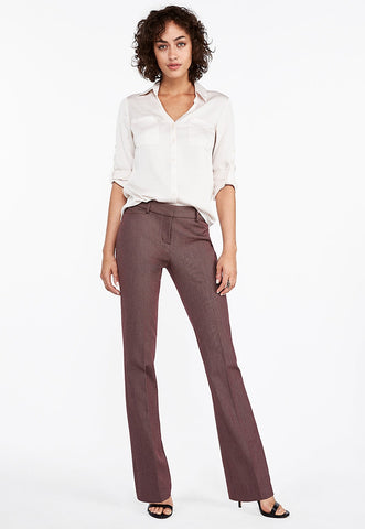 Mid Rise Birdseye Barely Boot Columnist Pant