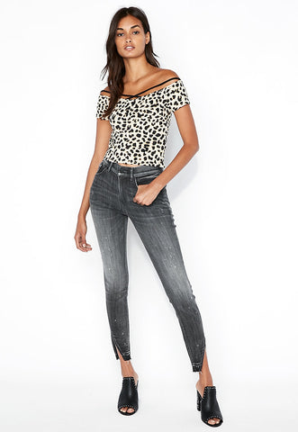 Express One Eleven Leopard Strappy Abbreviated Top