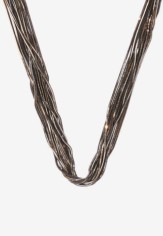 multi row cut chain necklace
