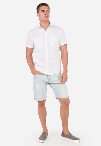 slim solid short sleeve shirt