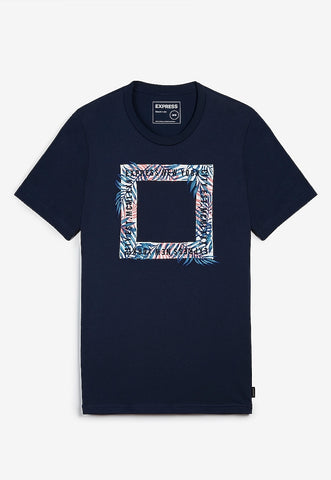 floral express embroidered graphic t-shirt