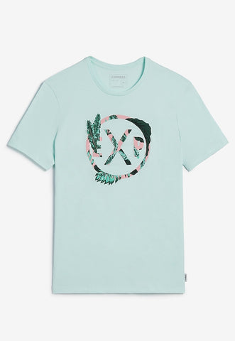 floral EXP embroidered graphic t-shirt
