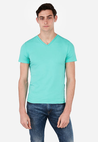 slim stretch v-neck t-shirt