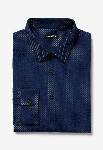 Extra Slim Micro Dot Dress Shirt