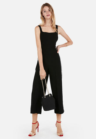 high waisted side stripe culottes