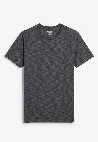slim stretch slub crew neck tee