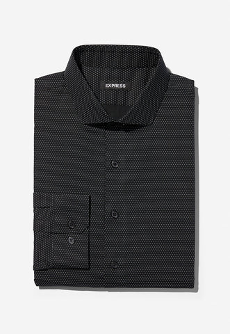 slim micro dot dress shirt