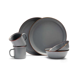 Beker Set 2 Stone Grey