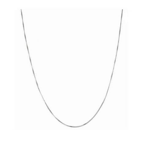 Silver Box Chain, 1.1mm