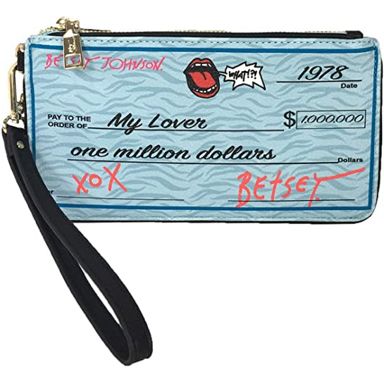 Betsey Johnson Write Me a Check Wristlet