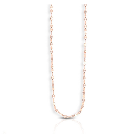 14k Mirror Rolo Chain, Rose