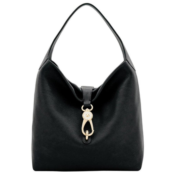 Dooney & Bourke Belvedere Logo Lock Shoulder Bag, Black