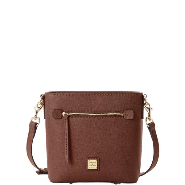 Dooney & Bourke Saffiano Small Zip Crossbody, Amber