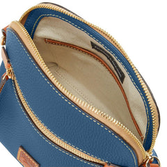 Dooney & Bourke Pebble Grain Domed Crossbody, Denim Blue