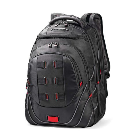"Samsonite - Tectonic 17"" PFT Backpack - Black/Red"