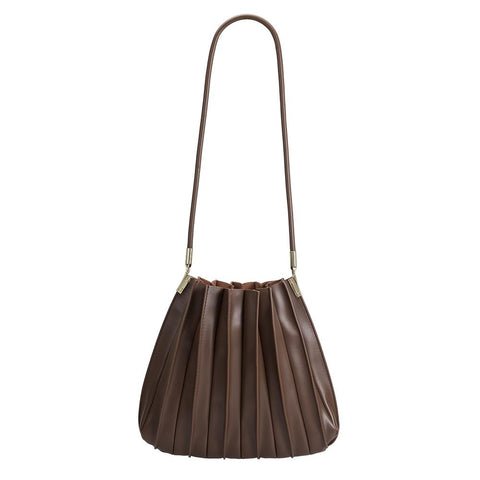 Melie Bianco Carrie Shoulder Bag, Chocolate