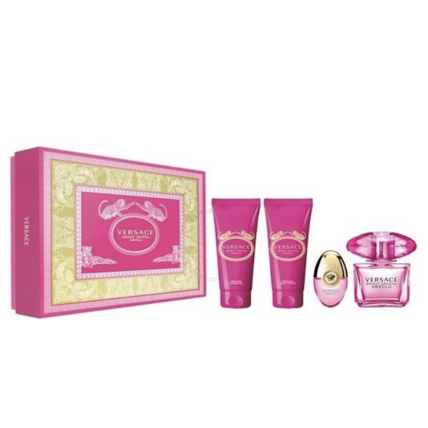 VERSACE - Bright Crystal Absolu 4 Piece Gift Set