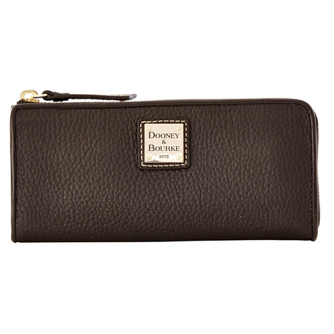 Dooney & Bourke Pebble Grain Zip Clutch, Black