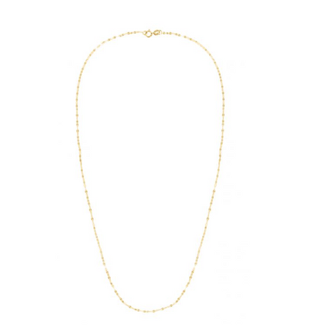 14k Mirror Rolo Chain, Yellow Gold