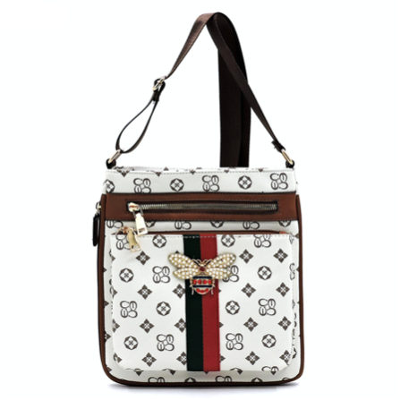 Queen Bee Crossbody, Ivory