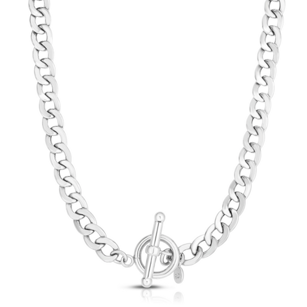 Silver La Gourmette Toggle Chain Necklace