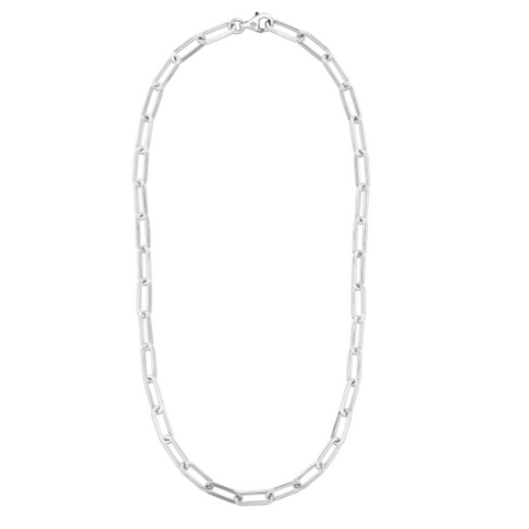 Silver Paperclip Link Necklace