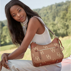 Dooney & Bourke Monogram Hobo, Brown