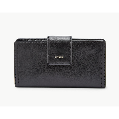 Fossil Logan RFID Tab Clutch, Black