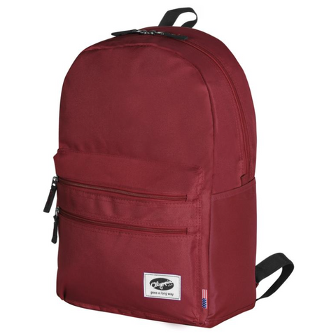 "Olympia USA Princeton 18"" Backpack, Burgundy"