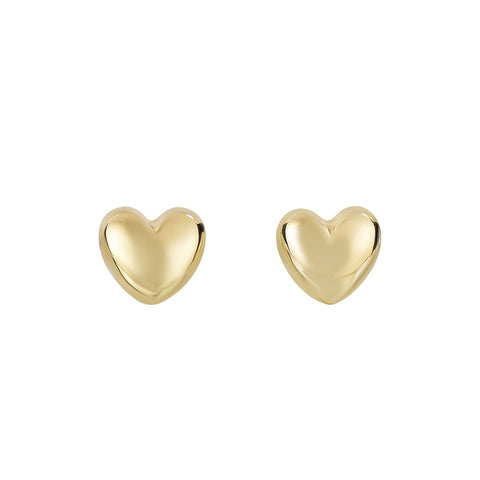 14K Small Heart Earrings