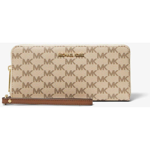 Michael Kors - Jet Set Large Continental Wallet, Beige Logo