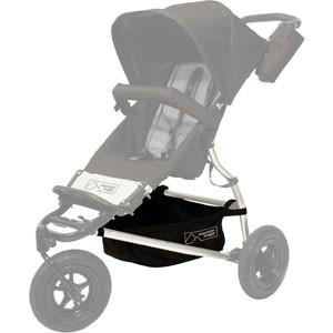 Mountain Buggy legacy swift buggy gear tray shown on buggy in black_black