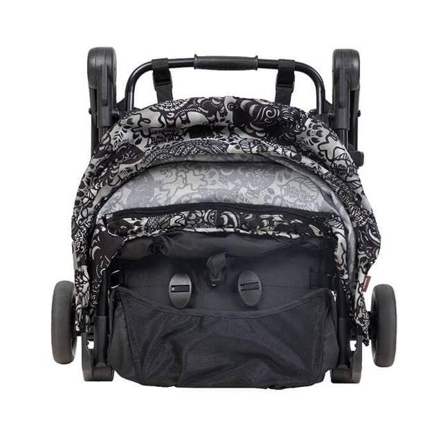 mountain buggy nano travel buggy in year of dog colour has compact fold for airplane carry-on front view_year of pig