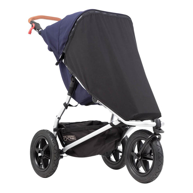 Mountain Buggy black out cover close up on an urban jungle luxury stroller in colour nautical_default