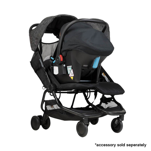 Mountain Buggy nano duo double lightweight buggy fitted with protect car seat in colour year of the dog_year of dog