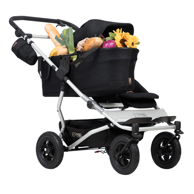 Mountain Buggy duet as a single buggy in colour black_black