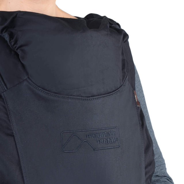 mountain buggy juno baby carrier in black colour has a weather protective hood_black