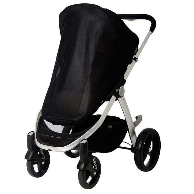 Mountain Buggy sun mesh cover fitted to a cosmopolitan luxury buggy in colour geo_default