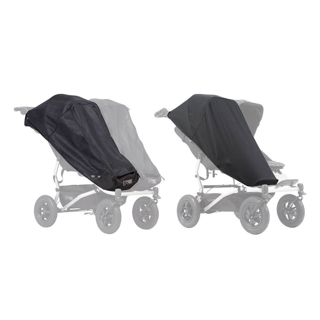 Mountain Buggy duet single custom fit sun mesh cover set with black out cover_default