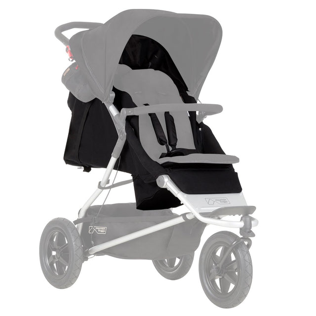 mountain buggy plus one double inline stroller replacement seat fabric black_black