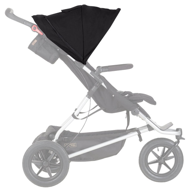 mountain buggy plus one double inline stroller replacement sunhood black side view_black