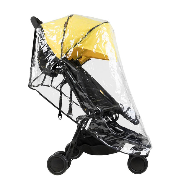 Mountain Buggy side view of nano duo fitted with double storm cover_default