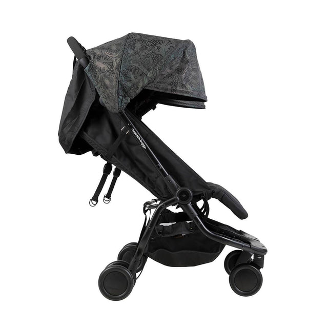 Mountain Buggy nano duo double lightweight buggy side view with seat reclined in colour year of the dog_year of dog