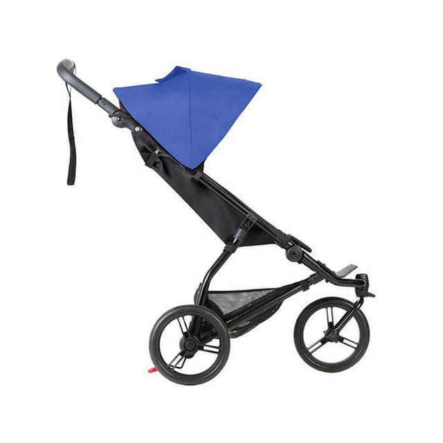 Mountain Buggy mini stroller in royal blue colour side view_royal