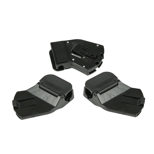Mountain Buggy set of 3 carry cot attachment clips for the duet buggy shown in black_black